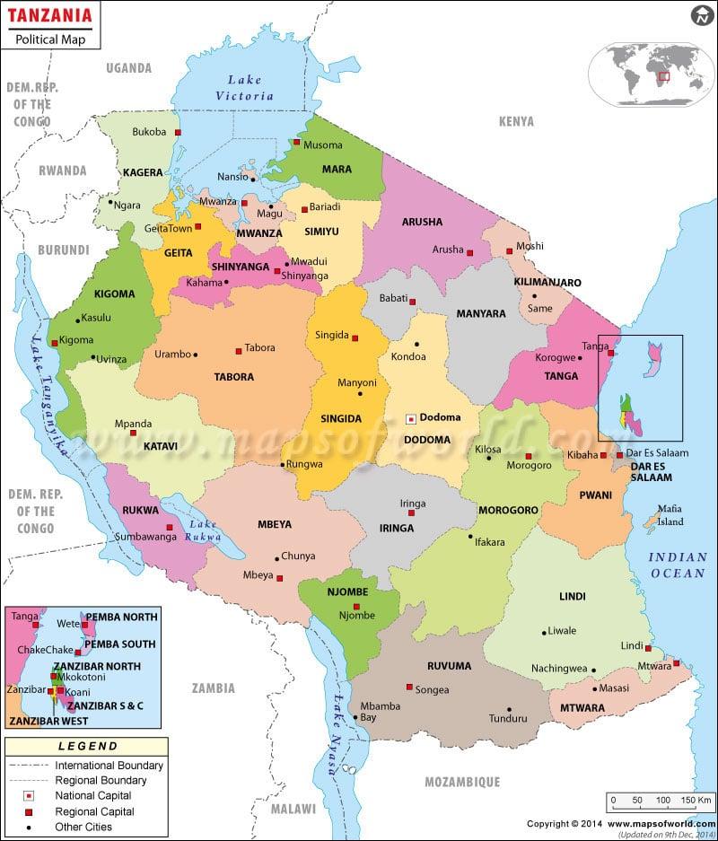 Dodoma Map Map Of Dodoma City Tanzania - Tanzania map download