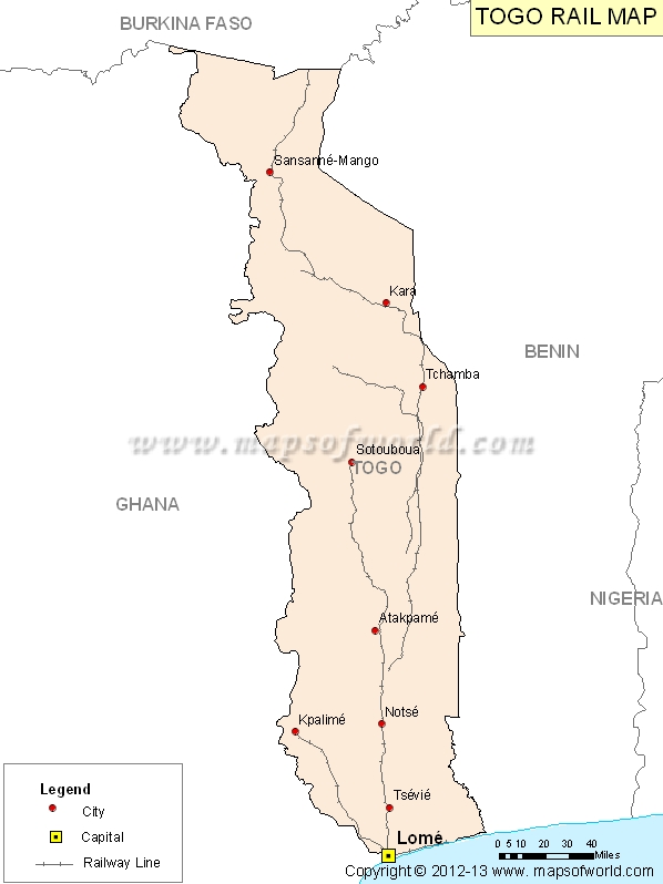 Togo Rail Map