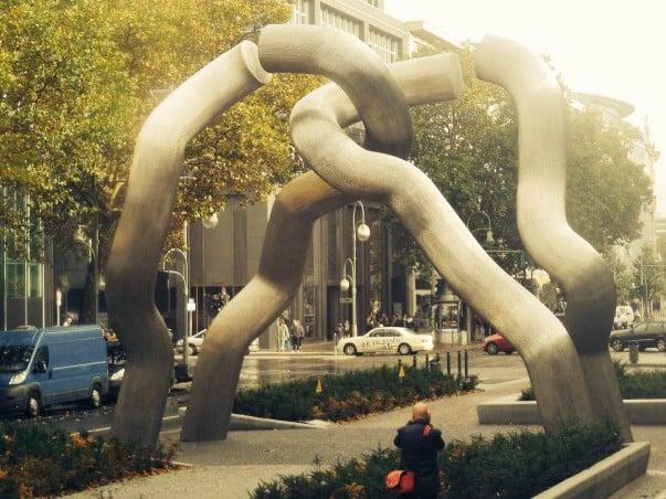 Sculpture named Berlin - City broken into East & West