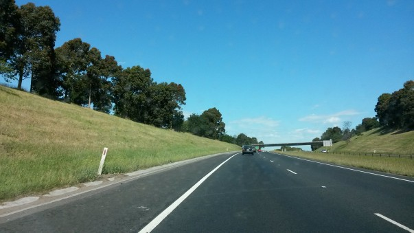 Freeway Melbourne to city centre