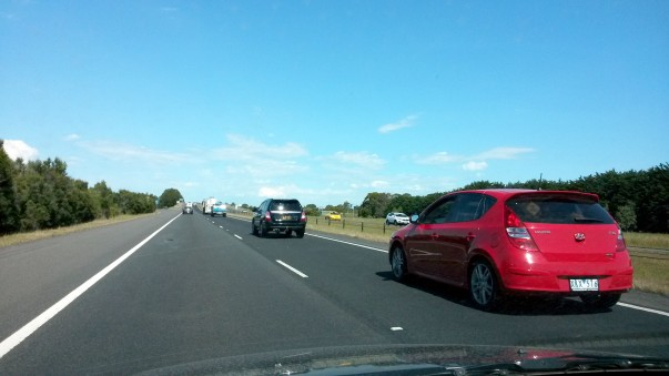 Beautiful Freeway Melbourne to city centre