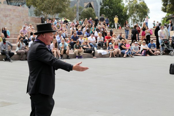 Live Stand-up comedy show at federation square, Melbourne
