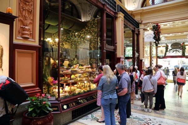 'Hopetoun Tea Rooms' with impeccable window displays