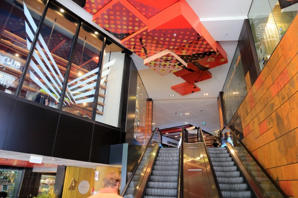 Colorful Entrance to Melbourne Central