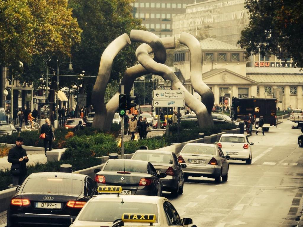 Berlin Sculpture on Tauentzienstraße in western Berlin