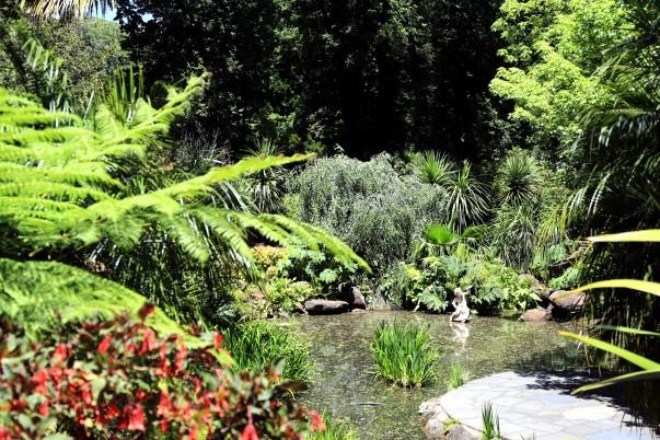 Les environs verts de Fitzroy Gardens