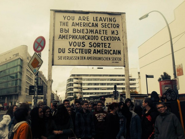 Famous Sign at Checkpoint Charlie