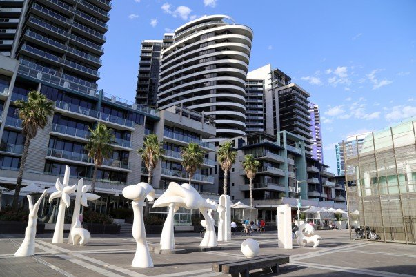 Waterfront walkways dotted with Art Installations