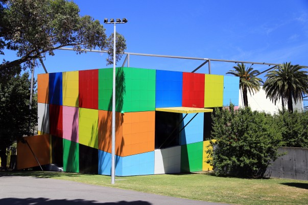 Colorful box at Children section inside the complex