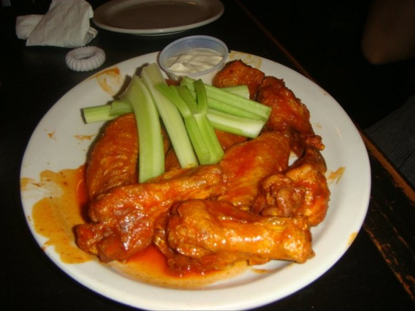 And finally, Buffalo wings