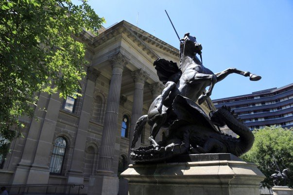 Statues in library Forecourt