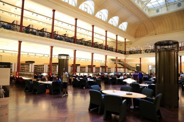 Library's spacious reading rooms