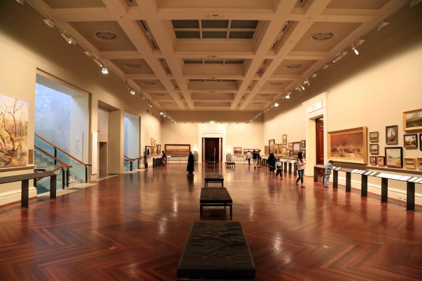 Art Galleries at the Victoria Library with rich collection of sculptures and paintings