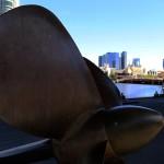 Giant Propeller along the river bank