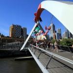 Suspension Bridge on Yarra River
