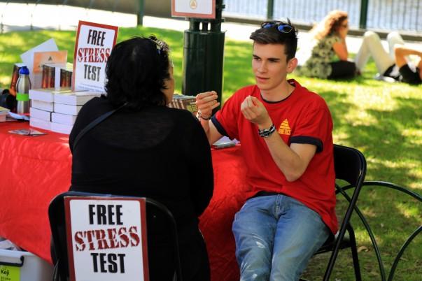 Free Stress Test along riverside… interesting!