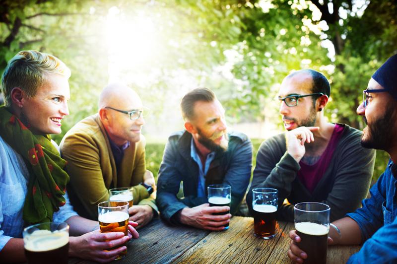 Oktoberfest - Drinking Beer