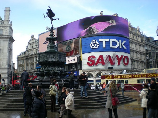 Shaftesbury Monument at Piccadilly Circus