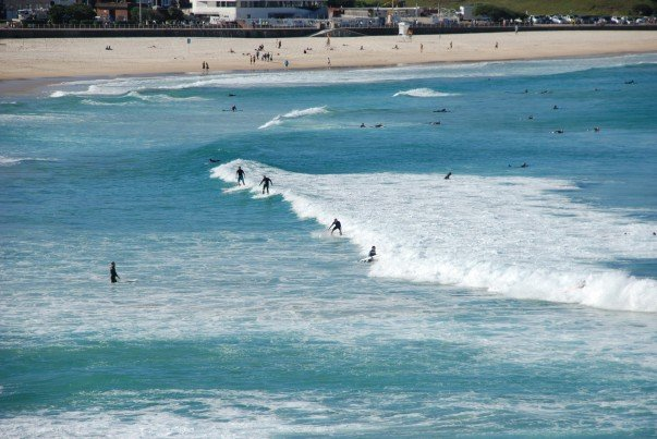 Riding the waves - Bondi Beach, Australia