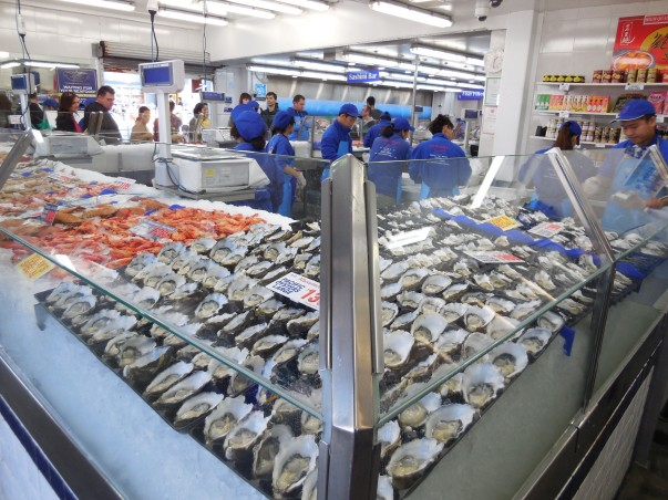 Sydney Fish Market is about more tahn just fish, loads of seafood in all forms