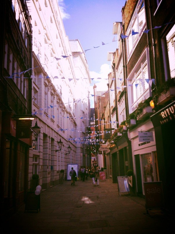 Small boutiques and shops at St Christopher's Place