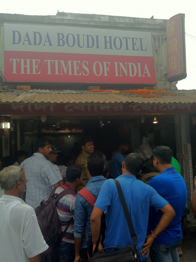 Waiting in queue for Dada Boudi  Biryani