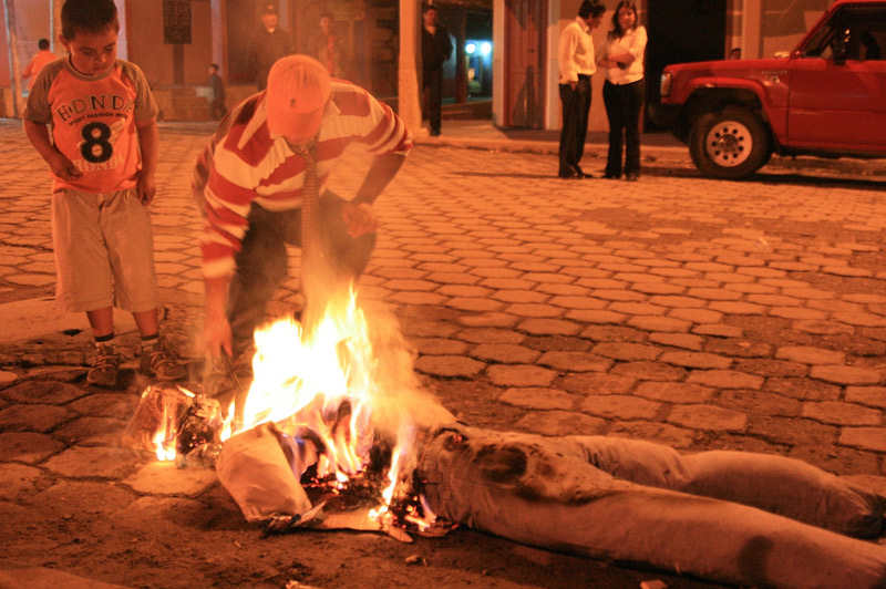 Light up an effigy at midnight