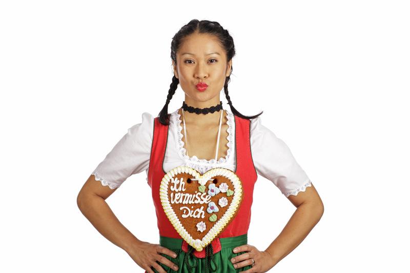 People Wearing Gingerbread Hearts