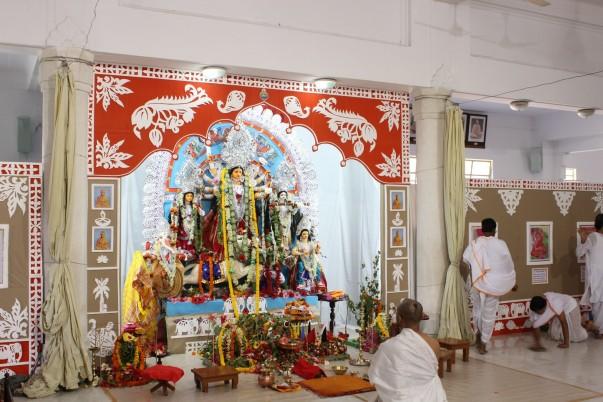 Durga idol at the Mission