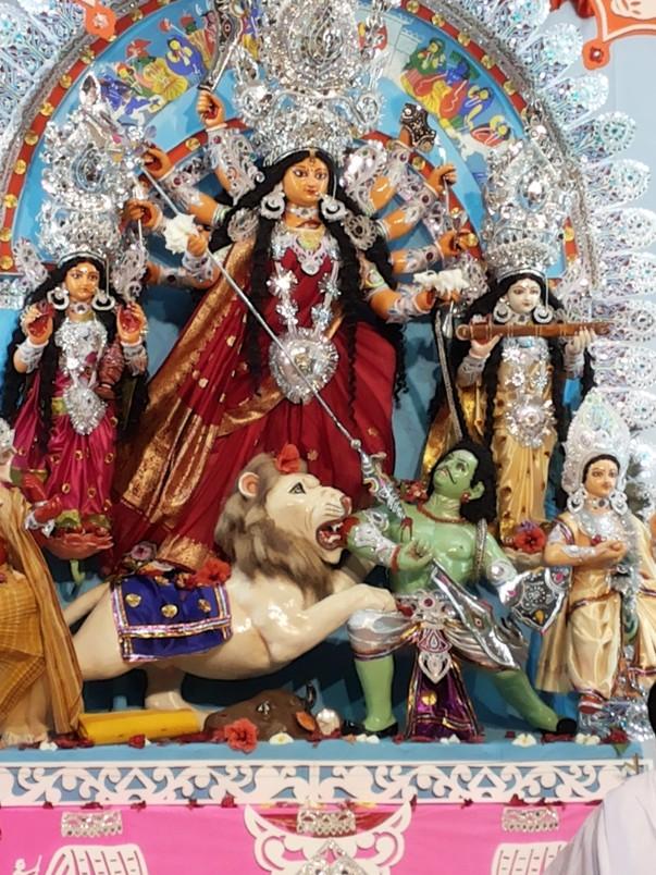 The idol of Durga