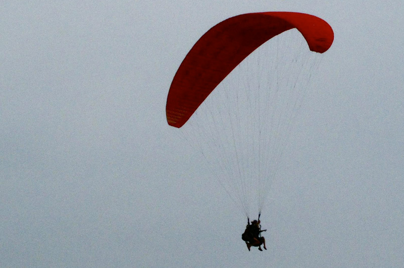 Paragliding in Arambol Beach, Goa