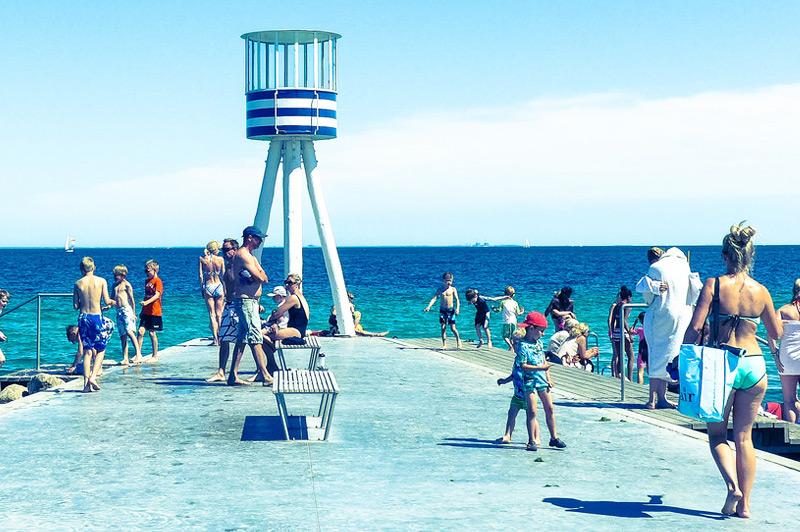 Bellevue-Beach,-Klampenborg,-Denmark