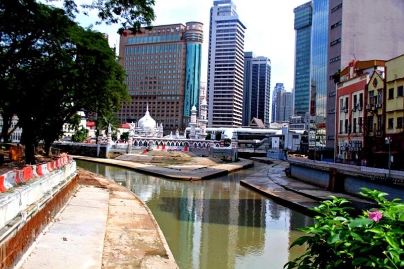 Confluence of Gombak and Klang rivers