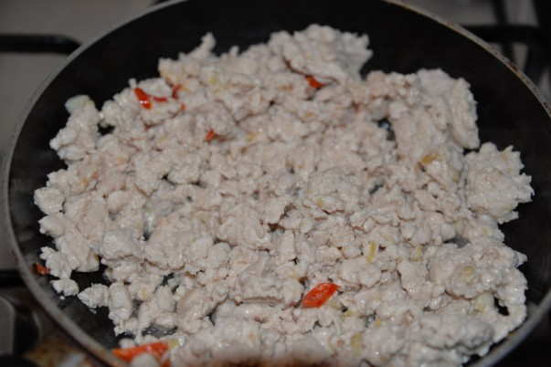 Cooking Minced Chicken