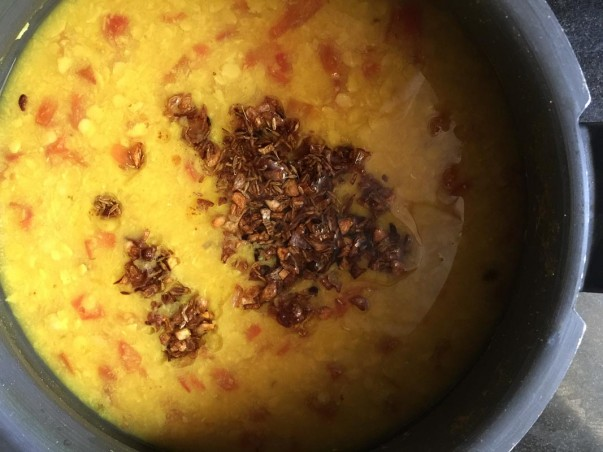 Dal with Tadka