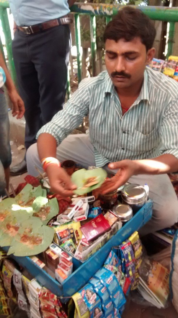 Dinner ends with a Mishti Paan