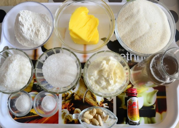 Egyptian Basbousa Ingredients