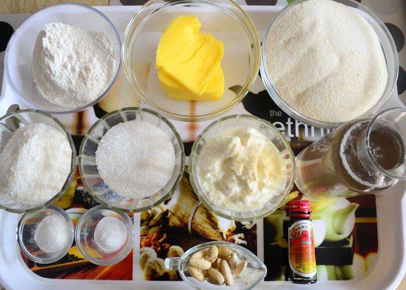 Egyptian Basbousa Ingredients