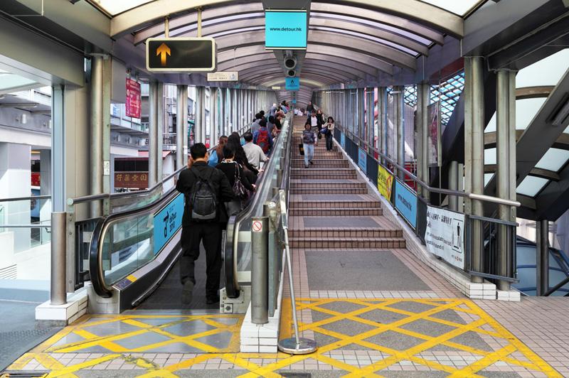 Hong Kong's Central Mid Levels walkway