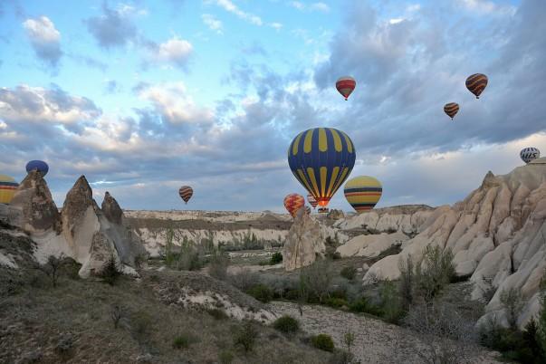 Enjoy the stunning beauty of the Cappadocia from a hot-air balloon!