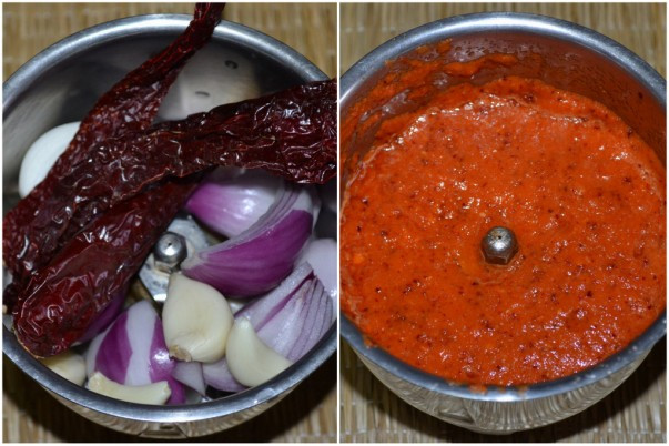 Ingredients Grinded For Making Sambal Paste