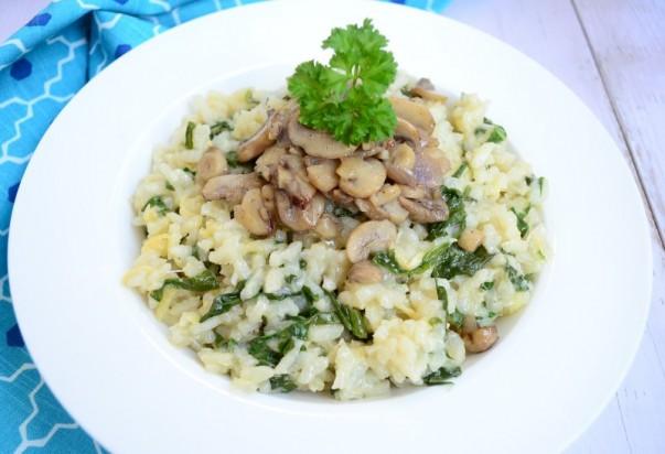 Italian Spinach & Mushroom Risotto
