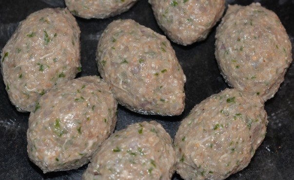 Kibbeh - Ready to be fried