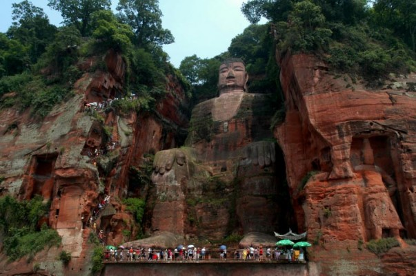 Leshan Giant Buddha is the biggest carved statue of Buddha.