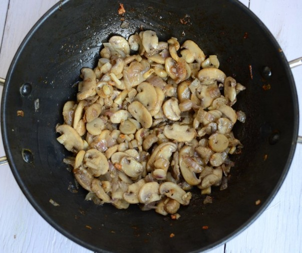 Mushroom Cooked Separately