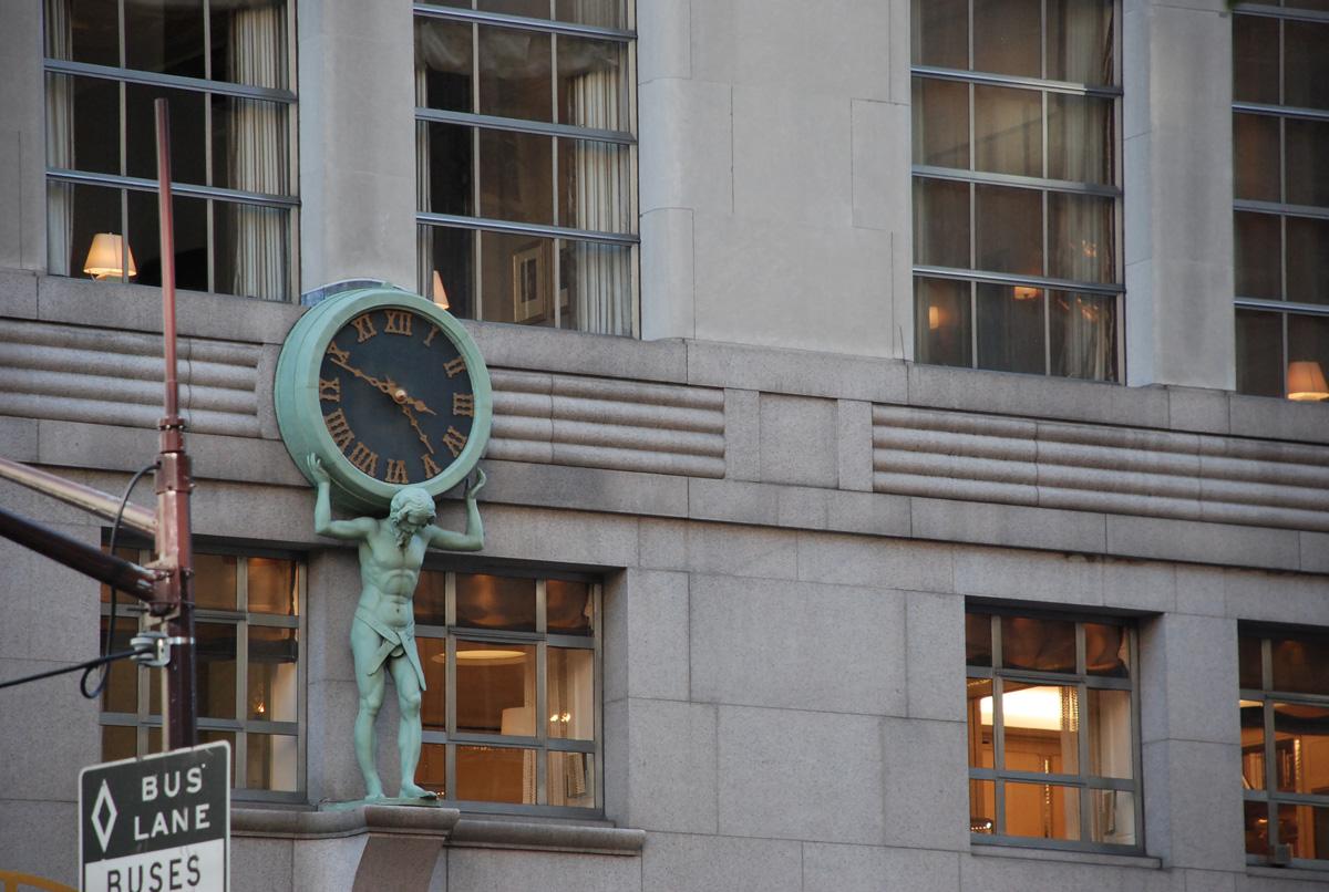 Beautiful. Atlas Clock of Tiffany & Co.