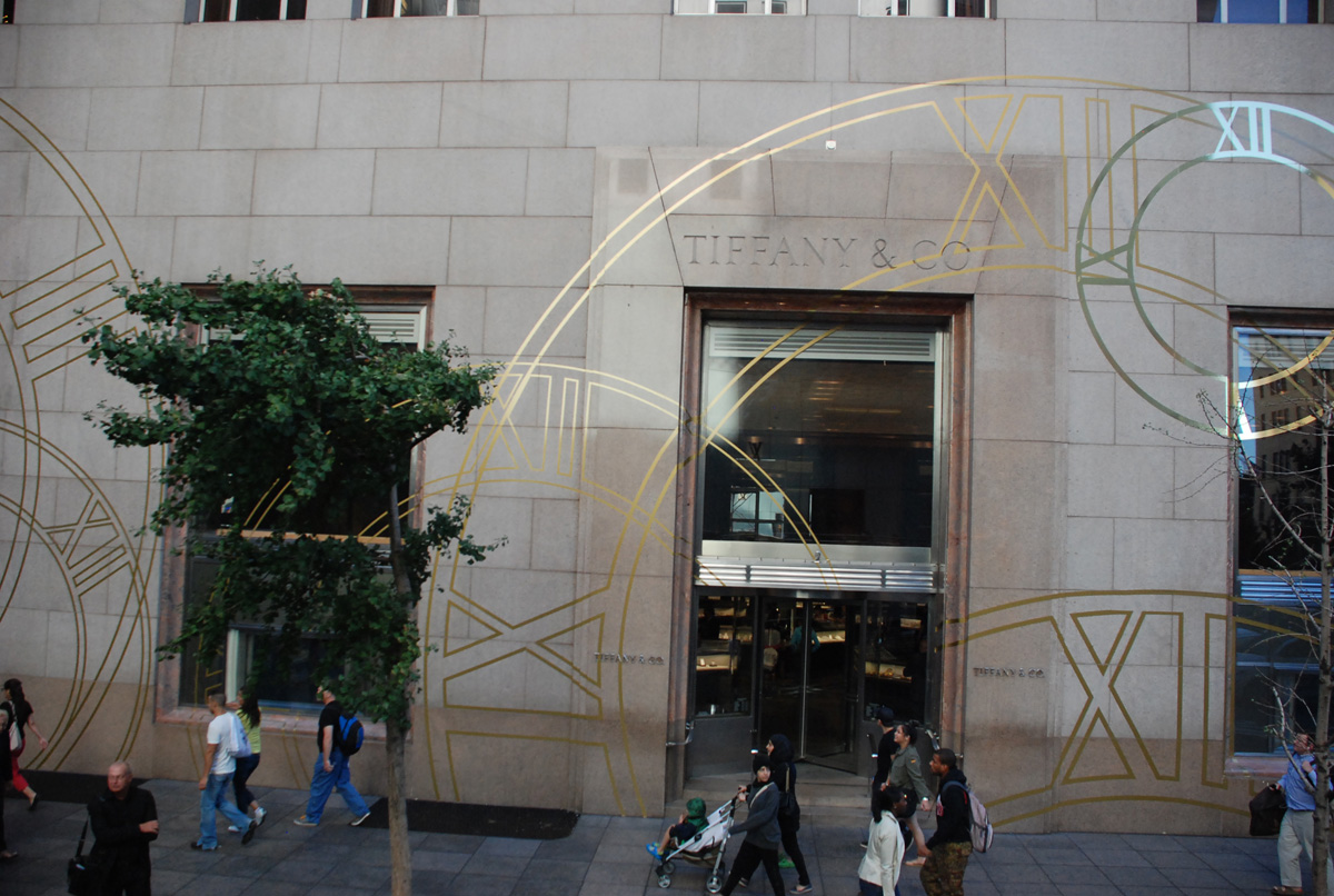 Tiffany & Co. Where time is framed.