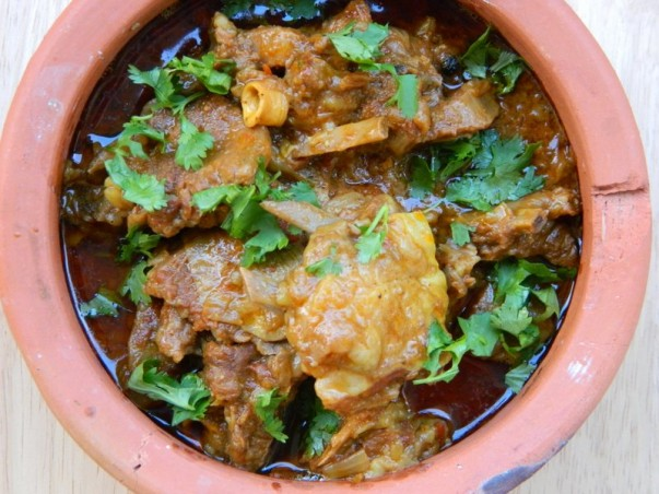 Pakistani Goshth Handi - Served
