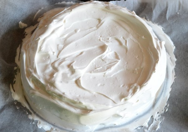 Pavlova Batter Ready For Baking