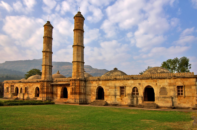 Ruins of an ancient mosque in Champaner Gujarat